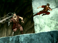Zuko fights Combustion Man