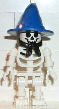 Skeleton with Standard Skull, Blue Wizard Hat, Bandana