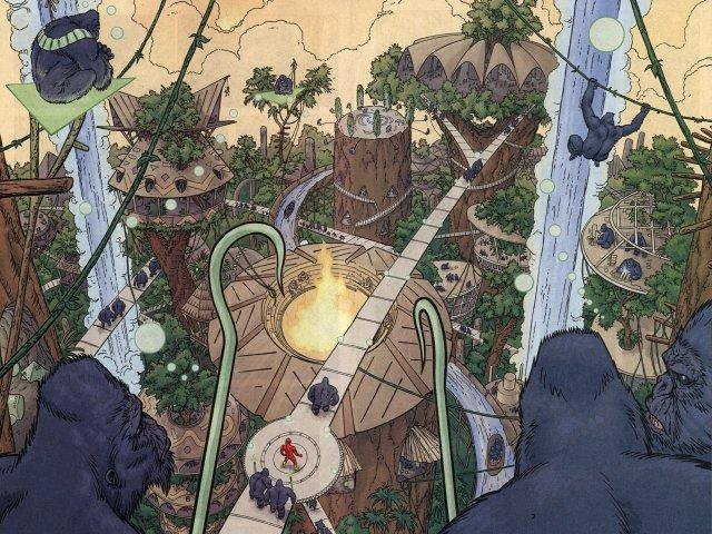 Si l'homme descend du singe, il peut aussi y remonter Gorilla_City_001