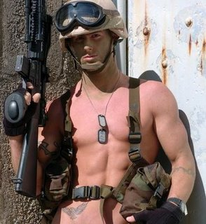 Gay soldier has YOU at attention c/o Gravelle's Daily Scoff @ DailyScoff.com