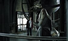 Harry and Dumbledore at the Astronomy Tower HBP