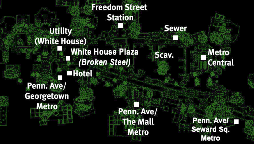Pennsylvania Avenue map
