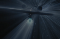 Enterprise in warp