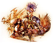 Crystal Chronicles Battle Artwork