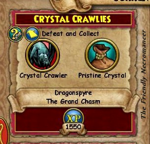 Crystal Crawlies quest