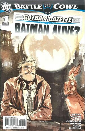 Cover for Gotham Gazette: Batman Alive? #1