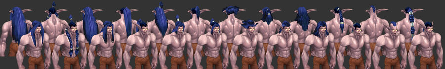 NightElf Male Hairstyles