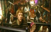 Ron Weasley at their WWW joke shop