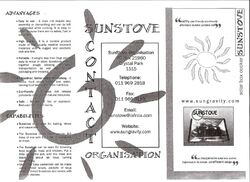Sunstove brochure 1