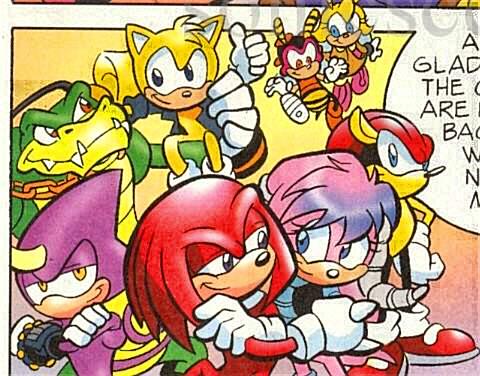 Chaotix - Mobius Encyclopaedia - Sonic the Hedgehog Comics Руж И Соник