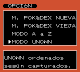Unown dex