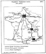 Grands itinéraires internationaux en 1941