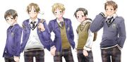 GakuenHetalia boys