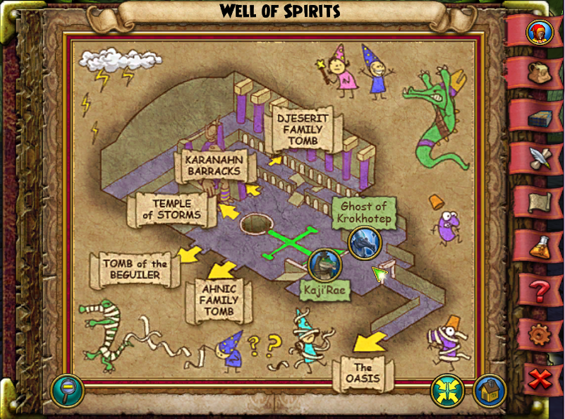 Well of Spirits Map