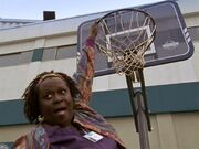 2x17 Laverne hangs from hoop
