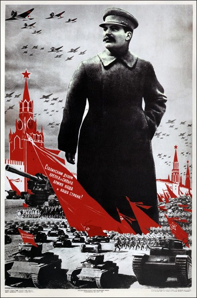 Propaganda by Stalin at the height of his power