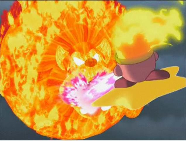 Kirby Right Back At Ya Fire Kirby fire lion kirby image ...