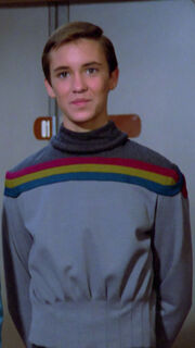 Wesley Crusher in seiner Uniform