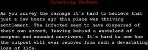 """Crushing Defeat"""