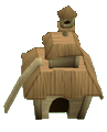 Oak pet house detail