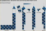 Quidditch Pitch - Ravenclaw Tower and Viewing Stand Drapes Layout