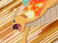 EP587 Dragonite usando puo fuego
