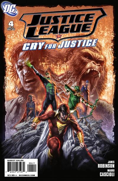 Cover for Justice League: Cry for Justice #4