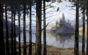 Hogwarts castle - view from the Forest 01 (Concept Artwork)