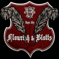 Flourish and Blotts sign