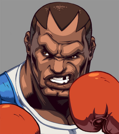 SF2 Balrog character select portrait