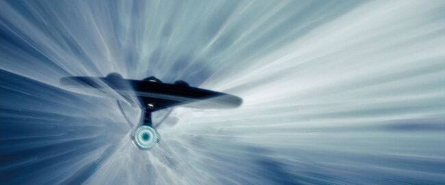 USS Enterprise (alternate reality) at warp