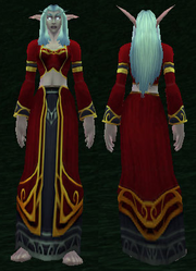 Scarlet Sin'dorei Robes, Grass Background, NE Female