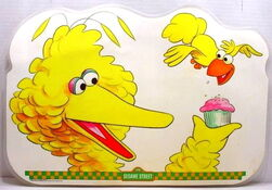 1982 sesame placemat big bird