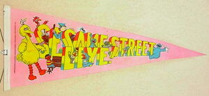 1980 sesame street live pennant