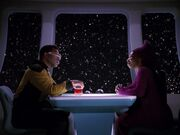 La Forge und Guinan