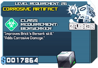 Artifact corrosive lvl3