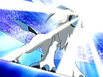 EP458 Absol usando destello