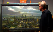 Syd Dutton with matte painting