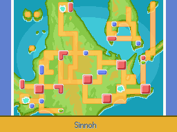 Mapa de Sinnoh en Platino