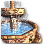 Oriental fountain icon