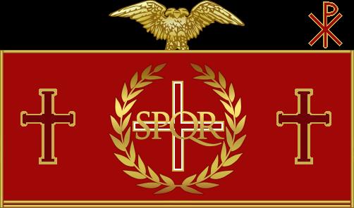 Fall of Civilization and Establishment of Regnum  Roman_Imperial_Flag