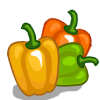 Multi-colored bell pepper-icon