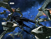 Narada and Klingon fleet