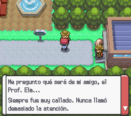 Mencin de profesor Elm en Pokemon Platino