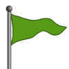 Green Flag-icon