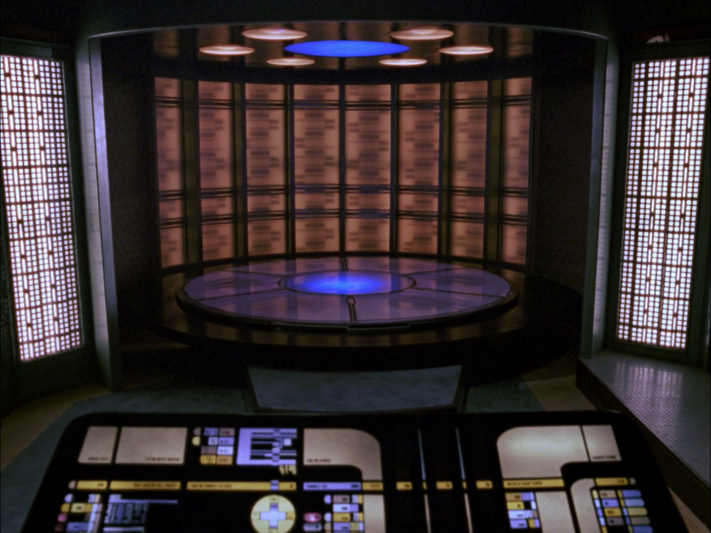Transporter Room Console Interfaces Of Star Trek