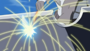 Killer Bee piercing through Suigetsu&#39;s sword