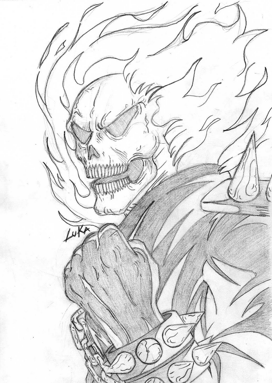 Ghost Rider Coloring Pages #8