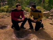 Riker und La Forge auf Barradas III