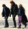 Bill walking with Harry and Luna at Shell Cottage.jpg